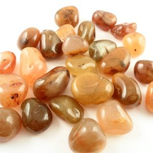 Agate, Carnelian, tumbled, 16oz md All Tumbled Stones carnelian