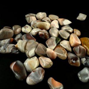 Agate, Pink Botswana, tumbled, 8oz All Tumbled Stones agate