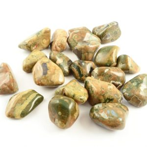 Rhyolite, Rainforest, tumbled, 8oz All Tumbled Stones rainforest rhyolite