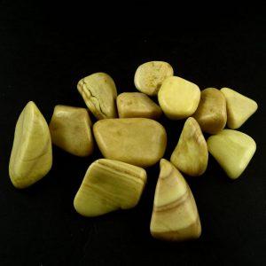 Serpentine, tumbled, 4oz All Tumbled Stones polished