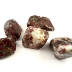 Tourmaline, Red in Quartz, tumbled, 4oz Tumbled Stones quartz