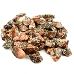 Agate, Leopardskin, tumbled, 8 ounces All Tumbled Stones Brazil