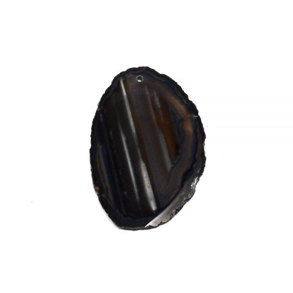 Drilled Agate Slice Black Agate Products agate