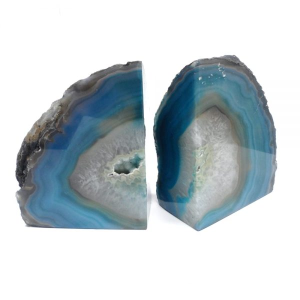 Agate Bookends – Teal All Specialty Items agate