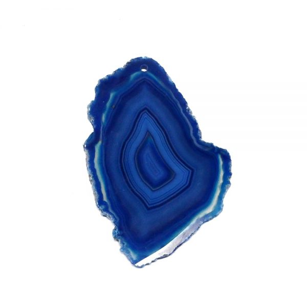 Drilled Agate Slice Blue Agate Products agate