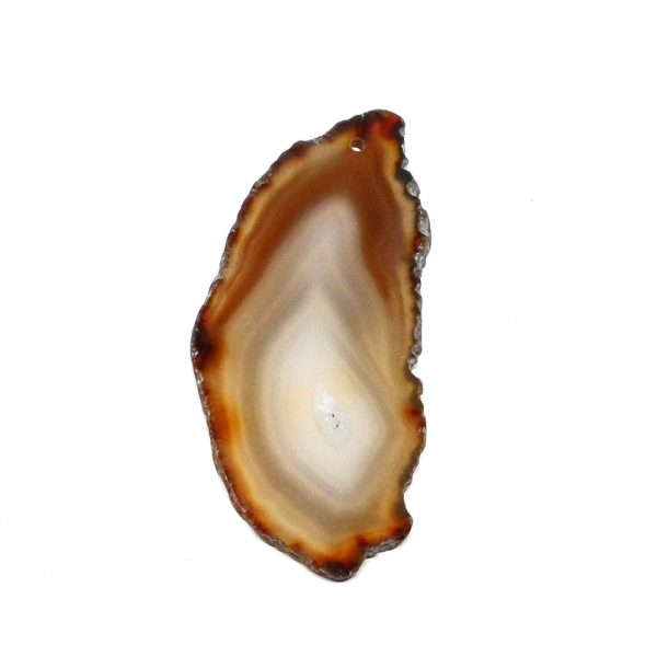 Drilled Agate Slice Brown Agate Products agate