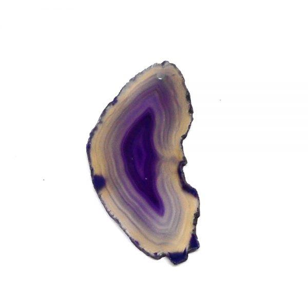 Drilled Agate Slice Purple Agate Slabs agate
