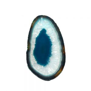 Drilled Agate Slice Teal Agate Slabs agate