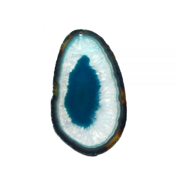 Drilled Agate Slice Teal Agate Products agate