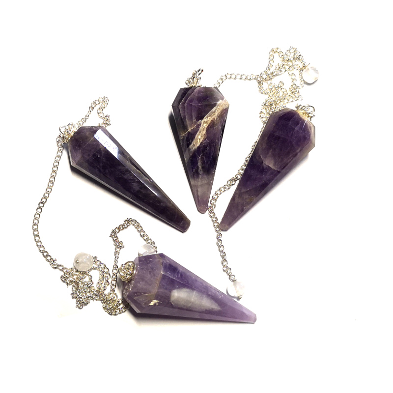 Amethyst Pendulum, 12 Sided Point All Specialty Items amethyst