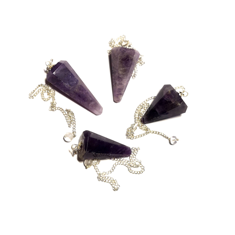 Amethyst Pendulum, Six Sided Point All Specialty Items