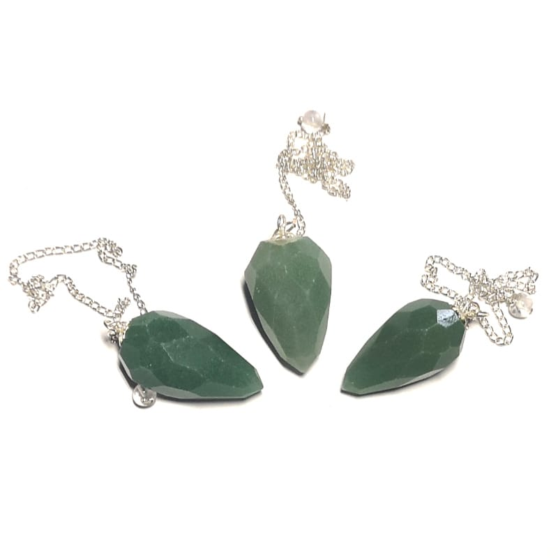 Aventurine Pendulum, Faceted Point
