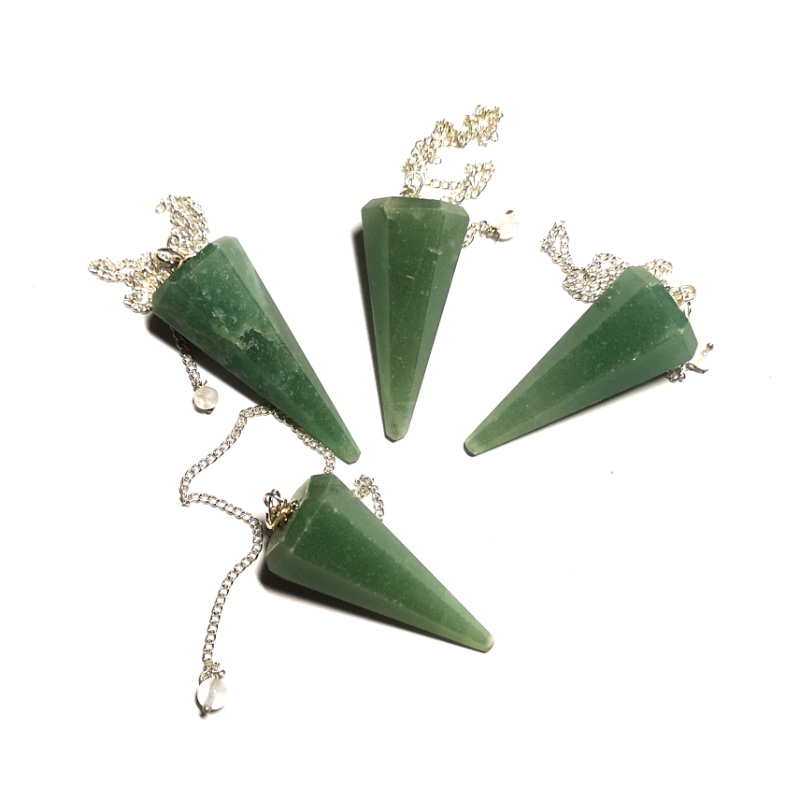 Aventurine Pendulum, Six Sided Point All Specialty Items aventurine