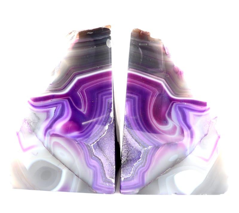 Agate Bookends, Purple