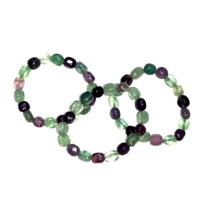 Fluorite Tumbled Stone Bracelet All Crystal Jewelry bracelet