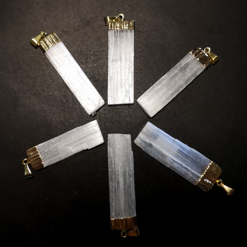 Selenite Pendant All Crystal Jewelry
