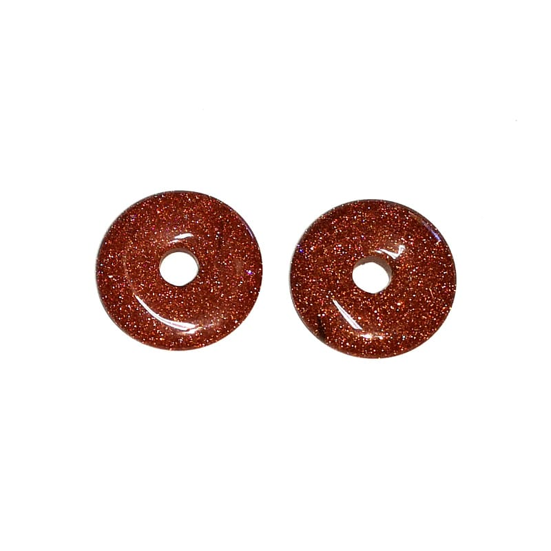 Goldstone Donut, 35mm All Crystal Jewelry donut