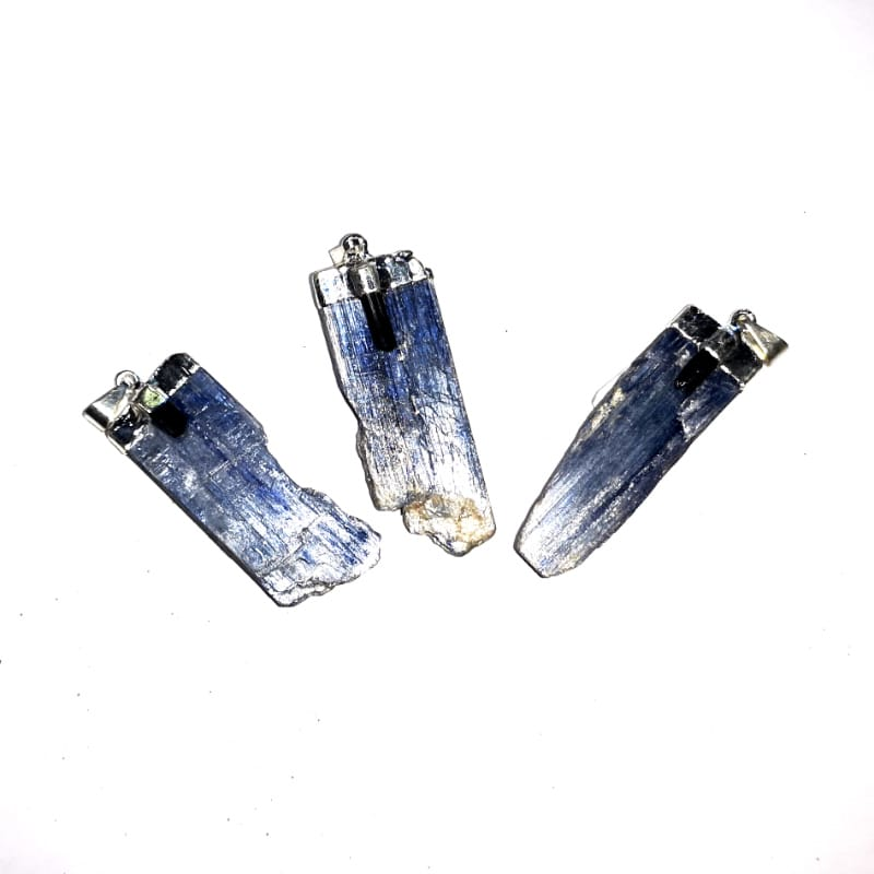 Kyanite with Black Tourmaline Pendant
