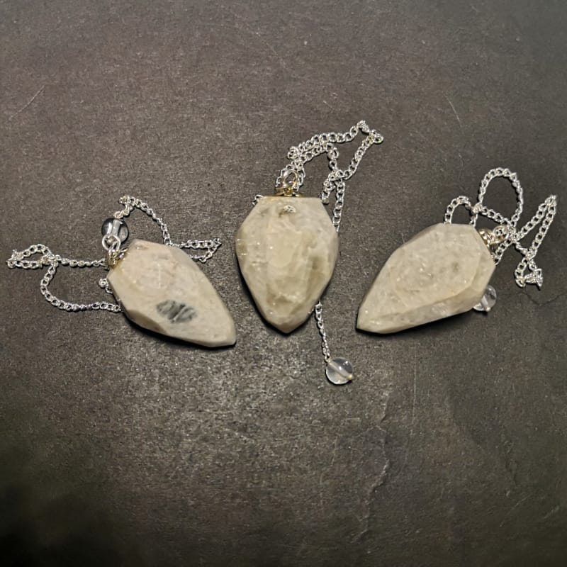 Moonstone Pendulum, Faceted Point
