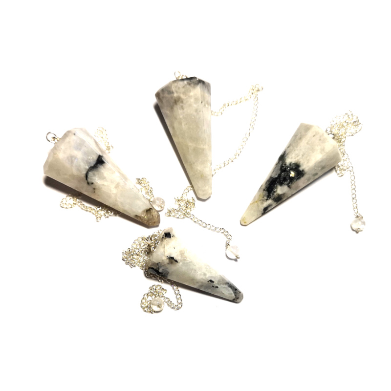 Moonstone Pendulum, Six Sided Point All Specialty Items moonstone
