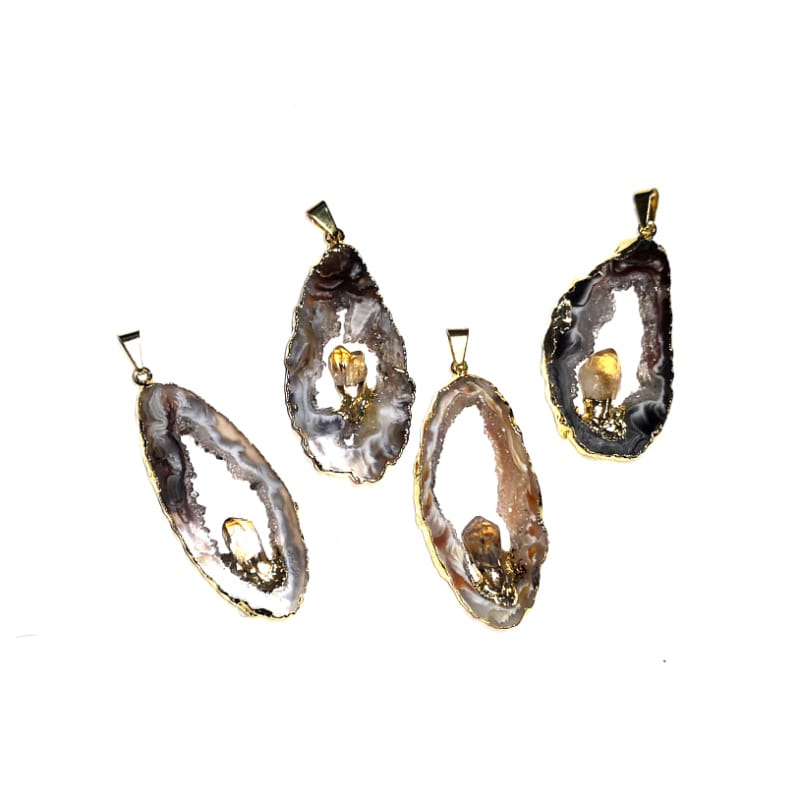 Oco Pendant with Citrine