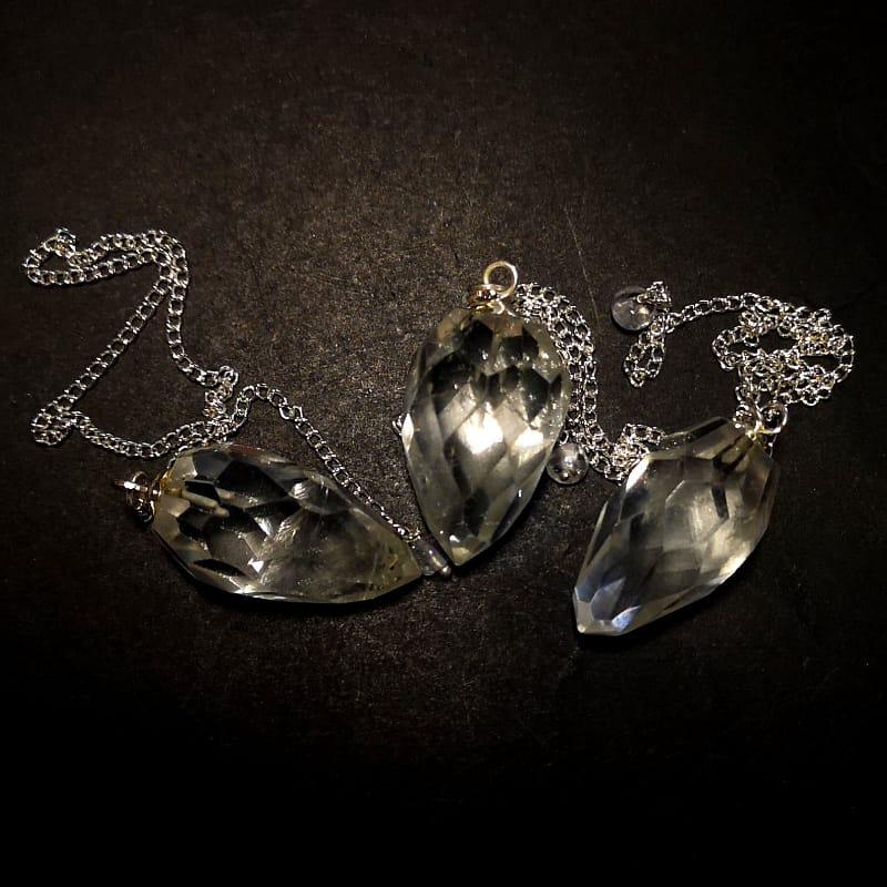Quartz Pendulum, Faceted Point All Specialty Items pendulum