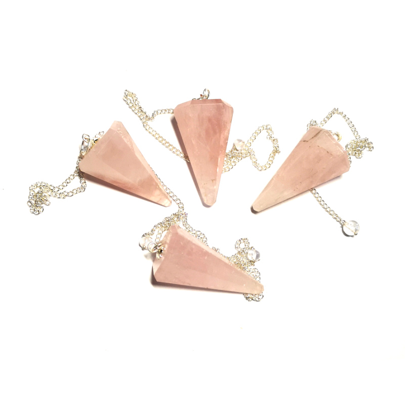 Rose Quartz Pendulum, Six Sided Point All Specialty Items pendulum
