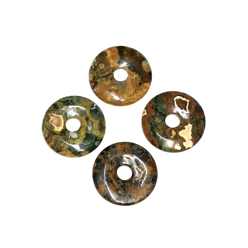 Rhyolite Donut, 35mm All Crystal Jewelry donut