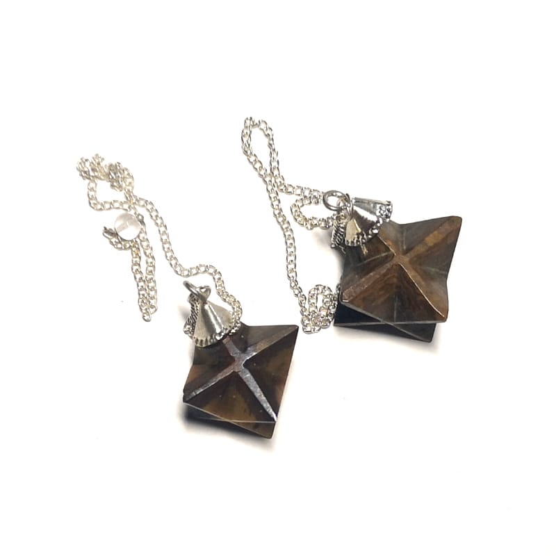 Tiger Eye Pendulum, Merkaba All Specialty Items pendulum