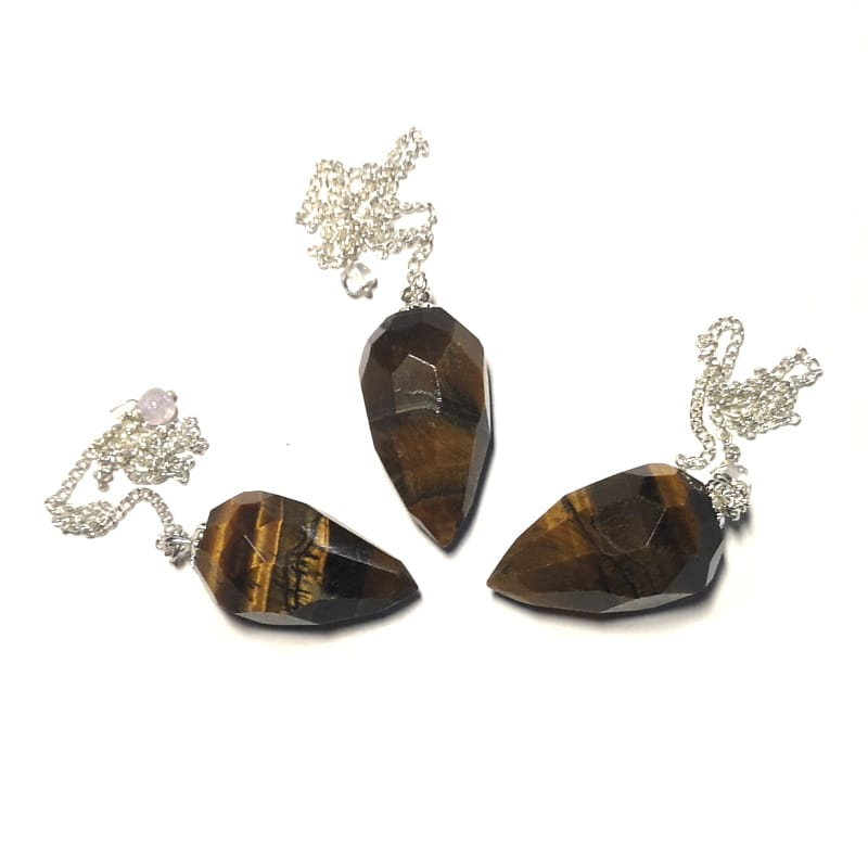 Tiger Eye Pendulum, Faceted Point All Specialty Items pendulum