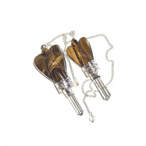 Tiger Eye Angel Pendulum with Quartz Point All Specialty Items angel