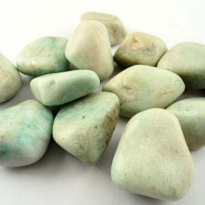 Amazonite, tumbled, lg, 8oz All Tumbled Stones amazonite