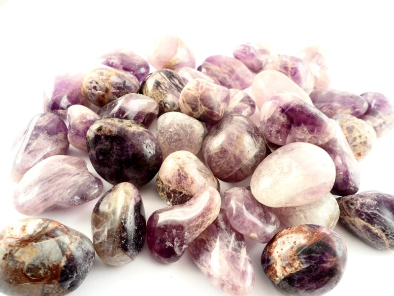 Amethyst, tumbled, lg, 16oz All Tumbled Stones amethyst