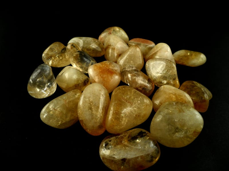 Citrine, md, tumbled, 8oz All Tumbled Stones