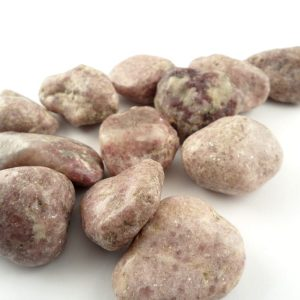 Lepidolite, tumbled, md, 8oz All Tumbled Stones lepidolite
