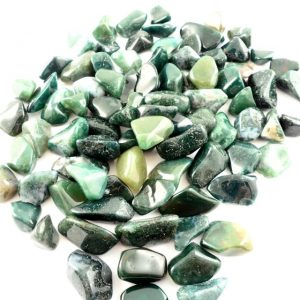Agate, Moss, tumbled, sm, 8oz All Tumbled Stones