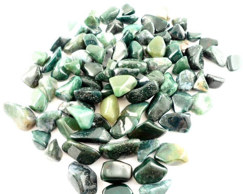 Agate, Moss, tumbled, sm, 8oz All Tumbled Stones agate