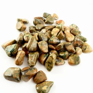 Rhyolite, tumbled, sm, 8oz All Tumbled Stones birds eye jasper