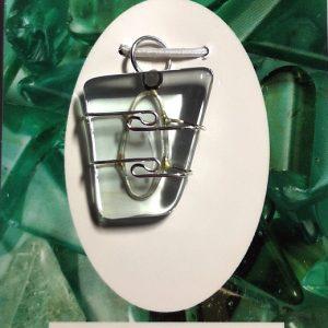 Wire Wrapped Pendant, Aqua Lemuria All Crystal Jewelry aqua lemuria
