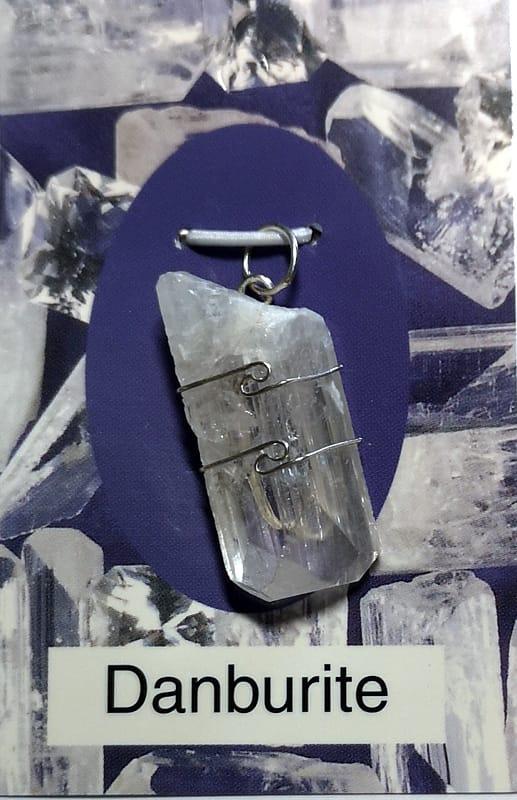 Wire Wrapped Pendant, Danburite All Jewellery