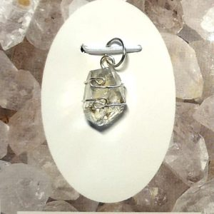 Wire Wrapped Pendant, Elestial Lightkeeper All Crystal Jewelry elestial lightkeeper
