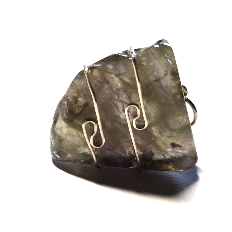 Wire Wrapped Pendant, Emerald Auralite All Crystal Jewelry Auralite
