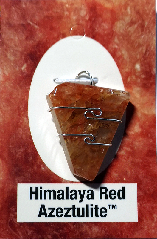 Wire Wrapped Pendant, Himalaya Red Azeztulite All Jewellery