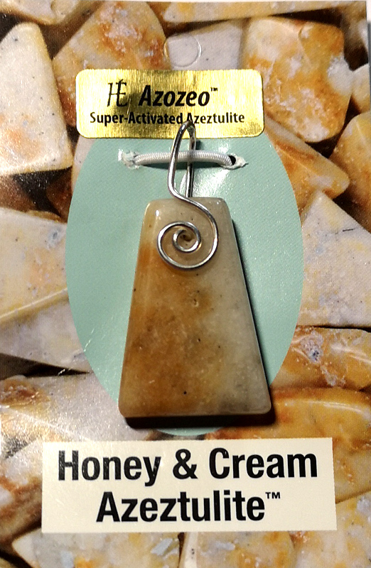 Wire Wrapped Pendant, Honey & Cream Azeztulite All Jewellery