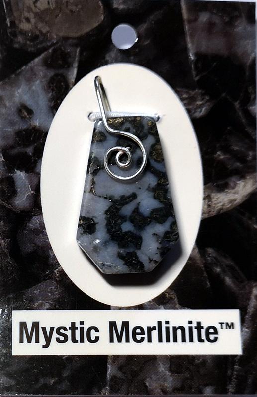 Wire Wrapped Pendant, Mystic Merlinite All Crystal Jewelry merlinite