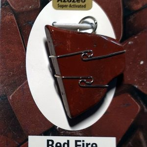 Wire Wrapped Pendant, Red Fire Azeztulite Crystal Jewelry pendant