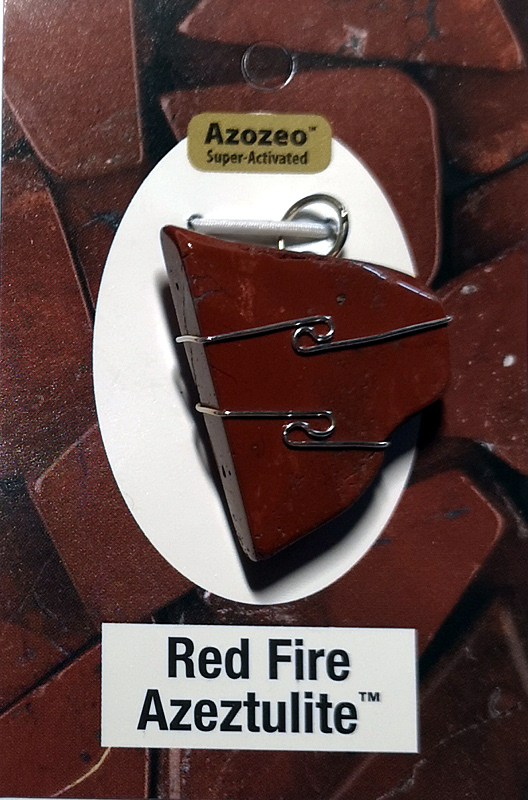 Wire Wrapped Pendant, Red Fire Azeztulite All Crystal Jewelry pendant