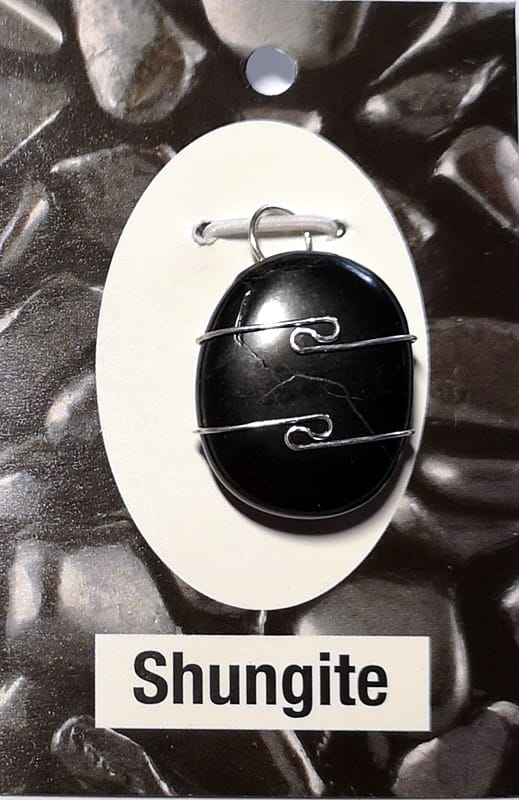 Wire Wrapped Pendant, Shungite All Crystal Jewelry pendant