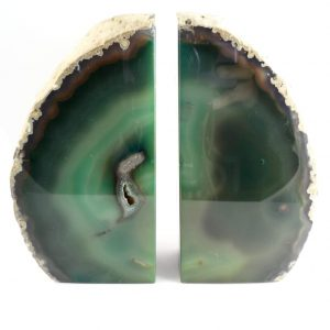 Agate Bookends, green
