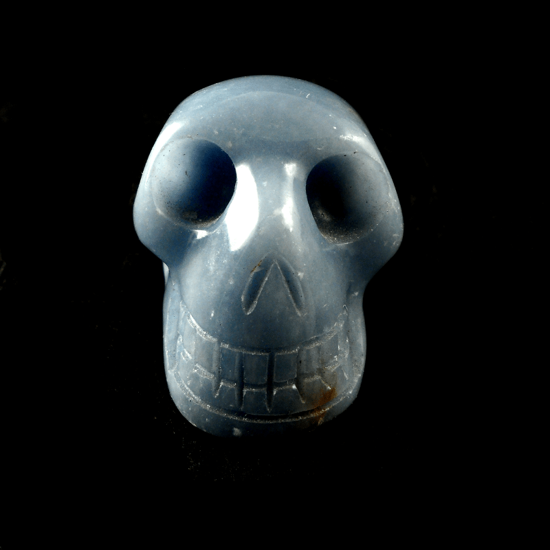 Angelite Skull Polished Crystals angelite